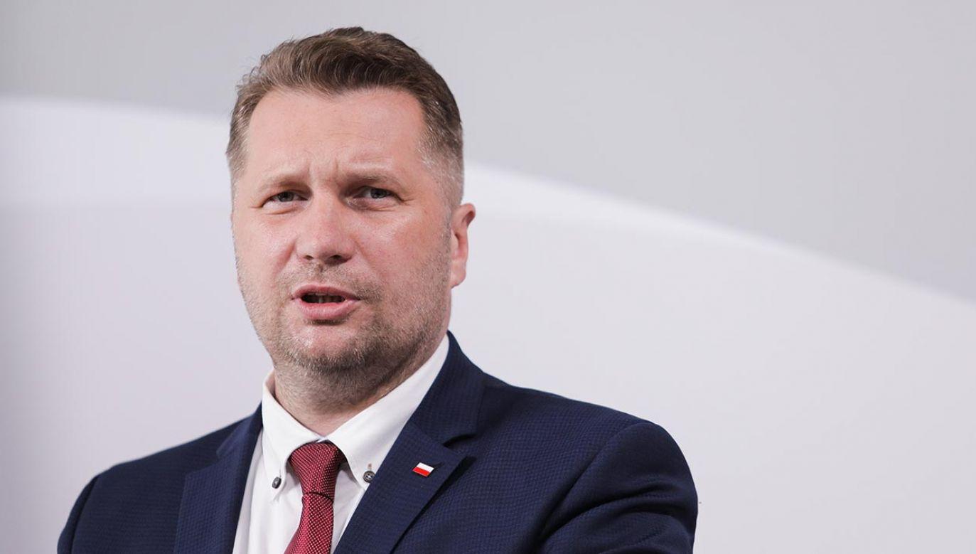 Minister edukacji i nauki Przemysław Czarnek (fot. Forum/Andrzej Hulimka)