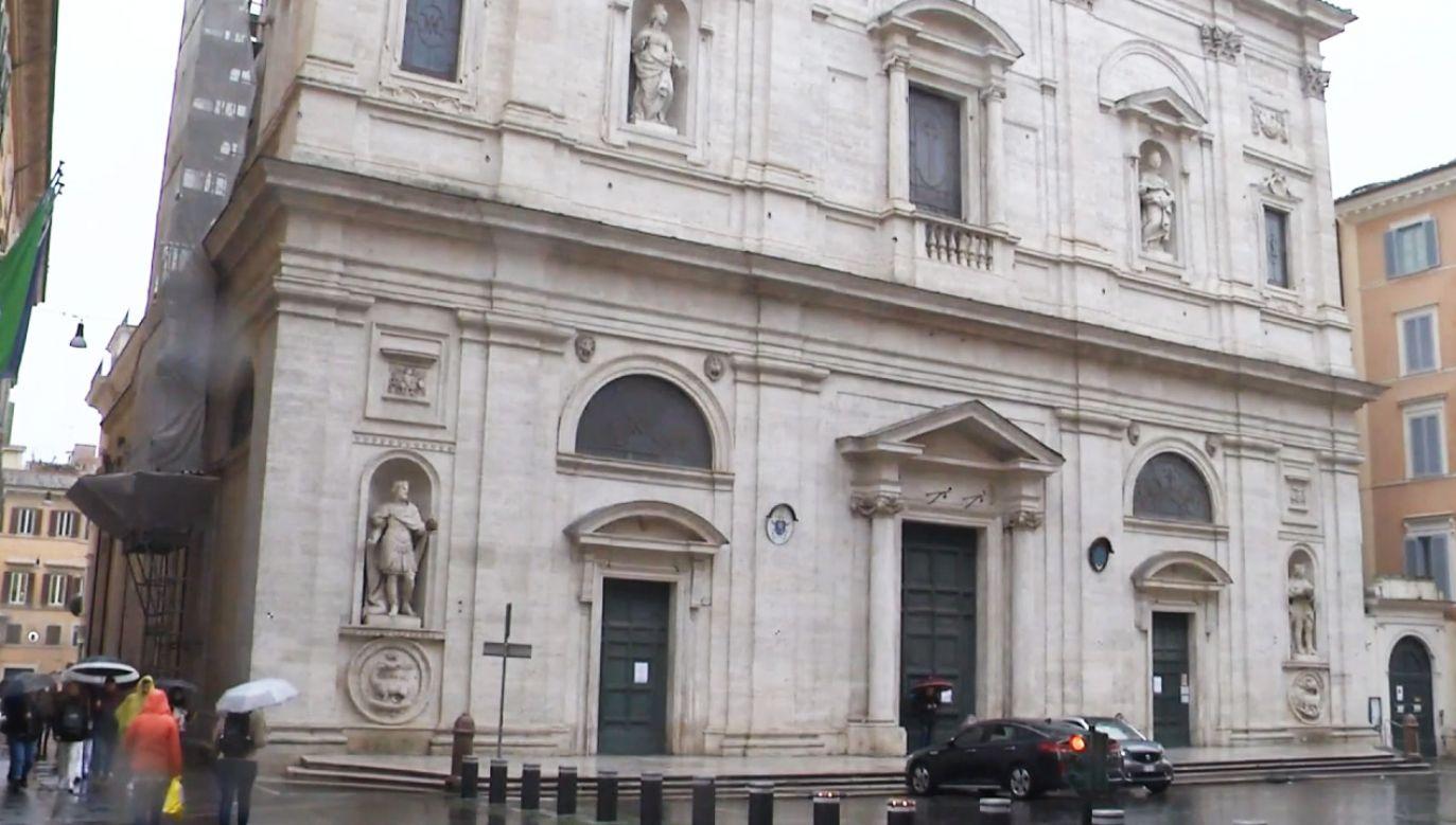 Kościół św. Ludwika Króla Francji jest narodową świątynią Francuzów w Rzymie od 1539 roku (fot. ZZEBU - EUROPEAN BROADCASTING UNION)