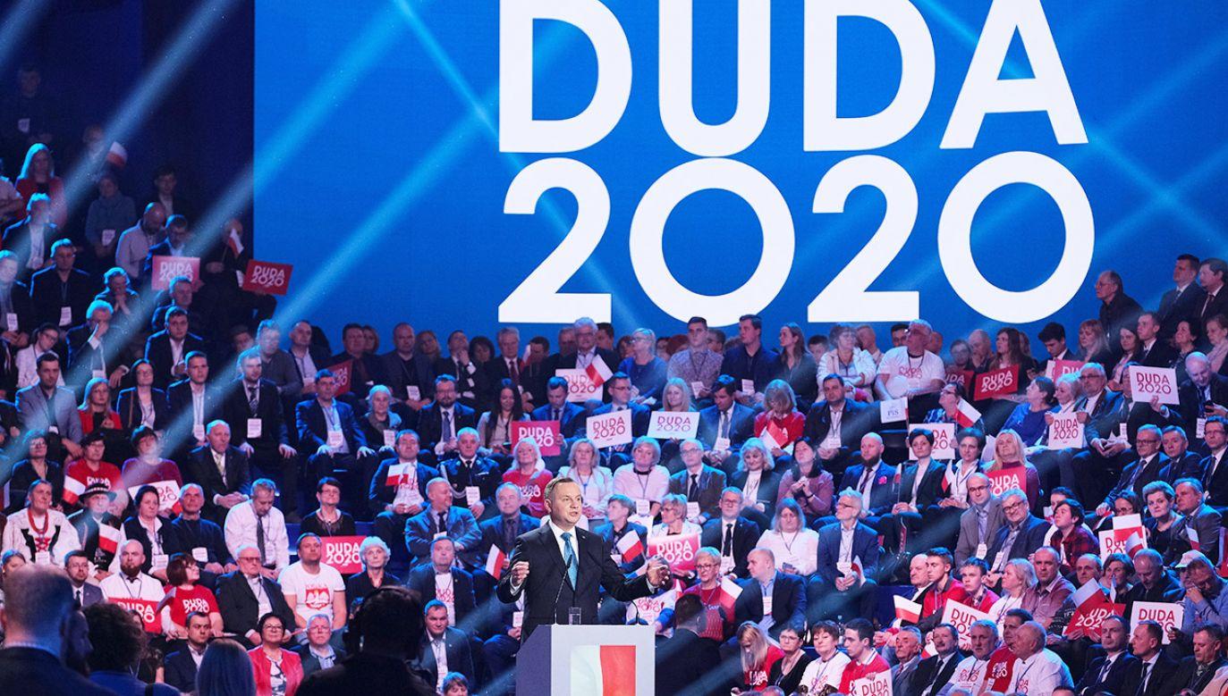 Prezydent Duda zainaugurował swoją kampanię (fot. PAP/Mateusz Marek)