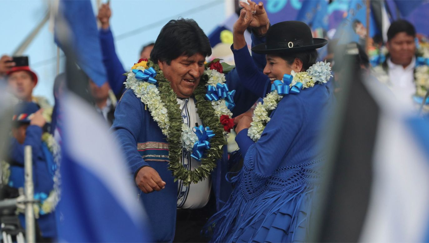 Evo Morales chce rządzić czwartą kadencję (fot. PAP/EPA/MARTIN ALIPAZ)