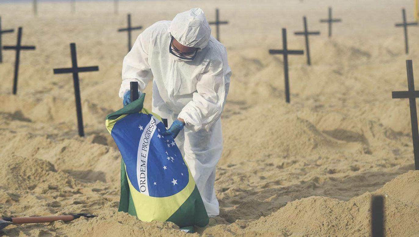 Brazylijska odmiana koronawirusa może ponownie zakażać (fot. Fabio Alarico Teixeira/Anadolu Agency via Getty Images, zdjęcie ilustracyjne)