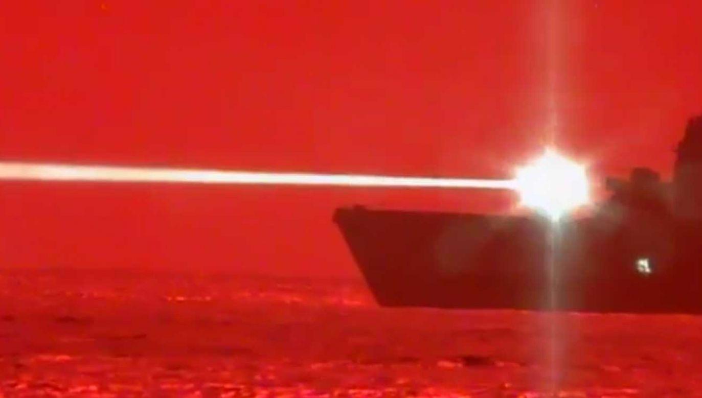 Demonstracyjna próba działa laserowego odbyła się 16 maja na Hawajach (fot. U.S. Pacific Fleet)