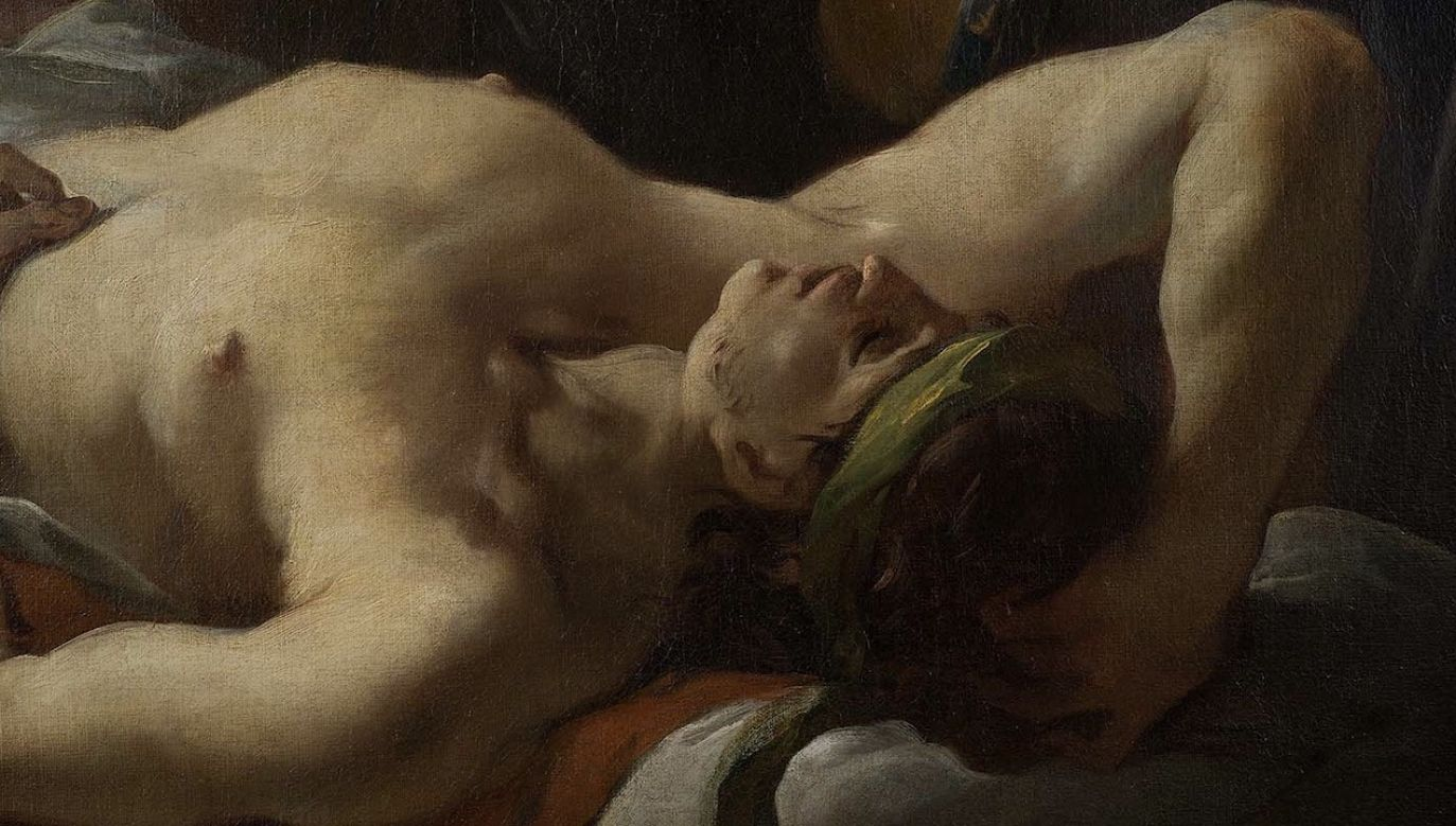 """MKiDN opisuje, że """"w centrum obrazu widzimy postać świętego Rocha odwiedzającego chorych"""" (fot. Zbigniew Reszka/MDKIN)"""