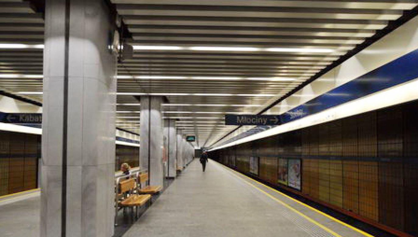 """I linia metra Stacja """"Stokłosy"""" (fot. metro.waw.pl)"""