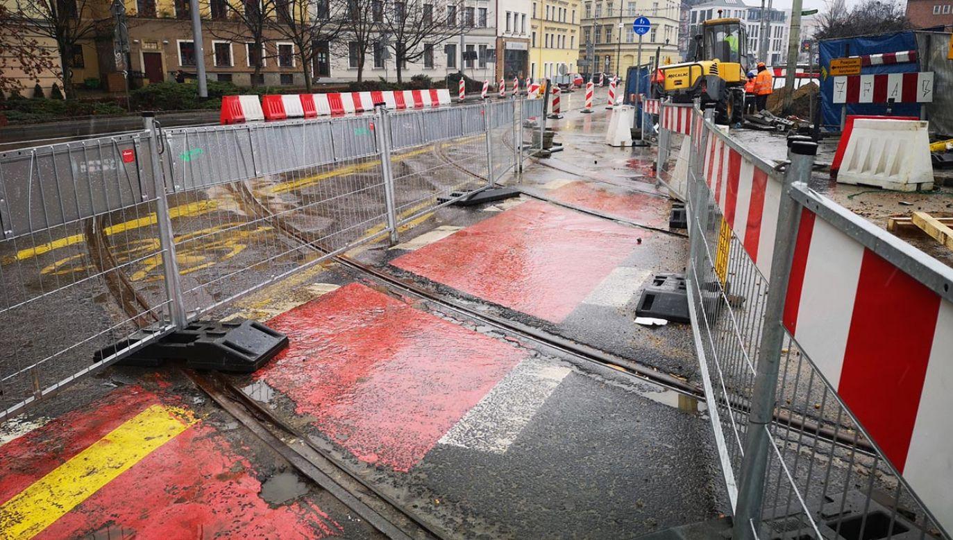 Od soboty planowane jest wprowadzenie zmiany tras linii tramwajowych (fot. Wrocławskie Inwestycje)