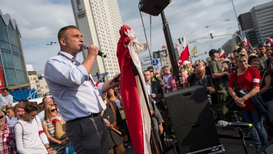 Wybory prezydenckie 2020. Robert Bąkiewicz komentuje (fot. Getty Images/ Attila Husejnow)