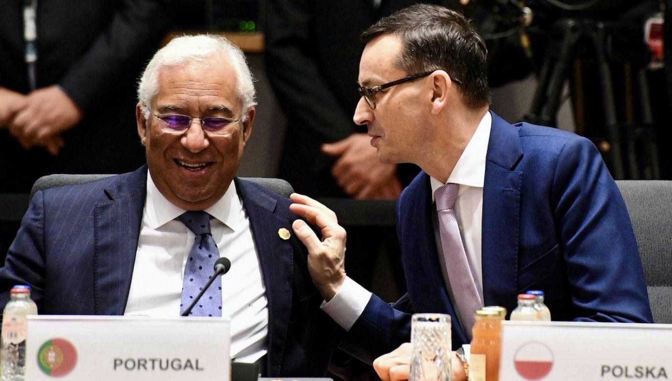 Premier Morawiecki i premier Portugalii Antonio Costa (fot. arch.PAP/Radek Pietruszka)