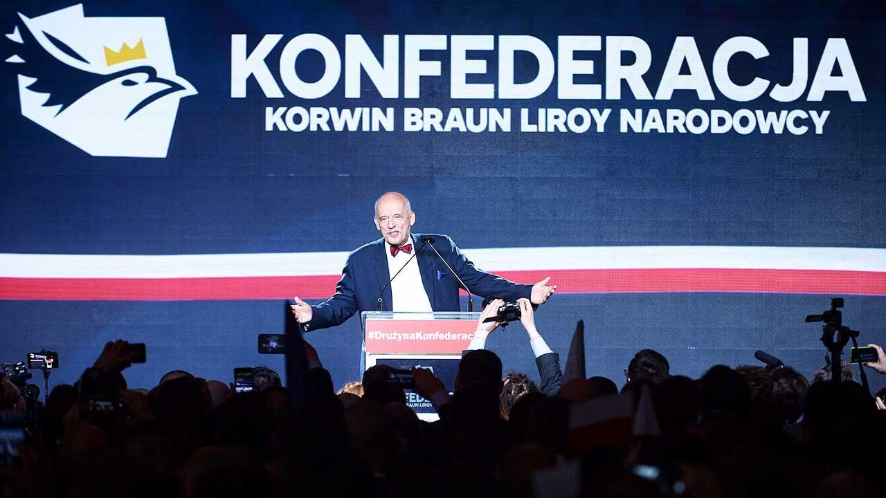 Konfederacja KORWiN Braun Liroy Narodowcy (fot. PAP/Marcin Obara)