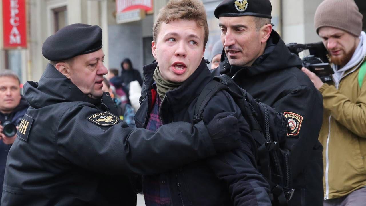 Raman Pratasiewicz został uprowadzony przez białoruskie służby (fot. PAP/EPA/STRINGER)