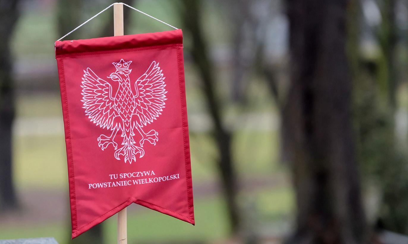 Uroczystości przy mogile generała Stanisława Taczaka na Cmentarzu Zasłużonych Wielkopolan (fot. PAP/Jakub Kaczmarczyk)