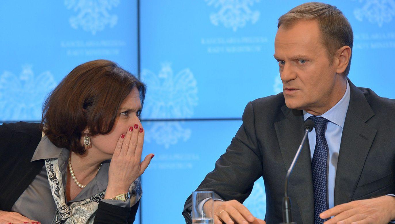 Małgorzata Kidawa-Błońska była rzeczniczką rządu Donalda Tuska od stycznia do czerwca 2014 roku. (fot. arch. PAP/Radek Pietruszka)