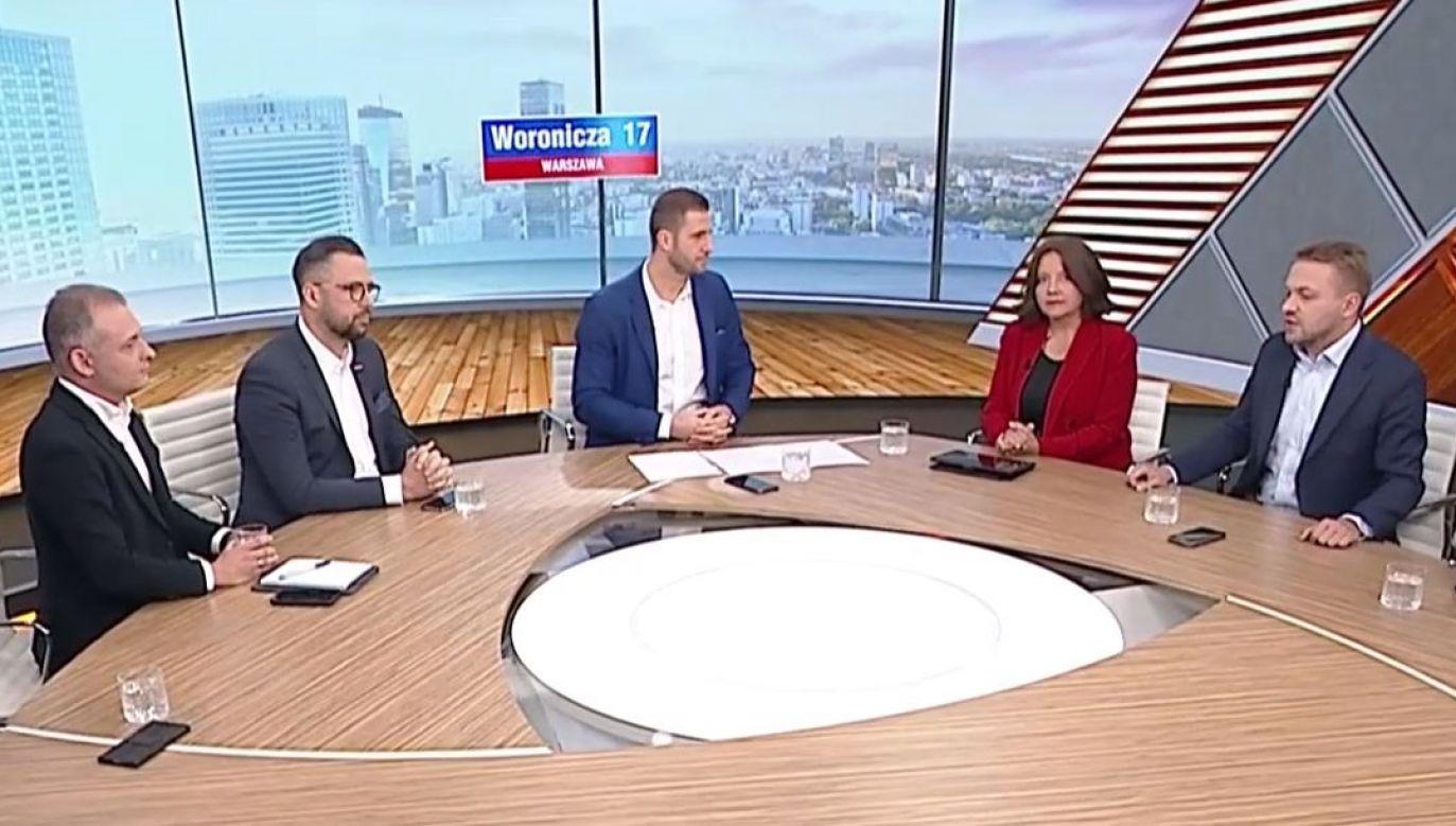 Politycy o słowach Nitrasa (fot. TVP info)