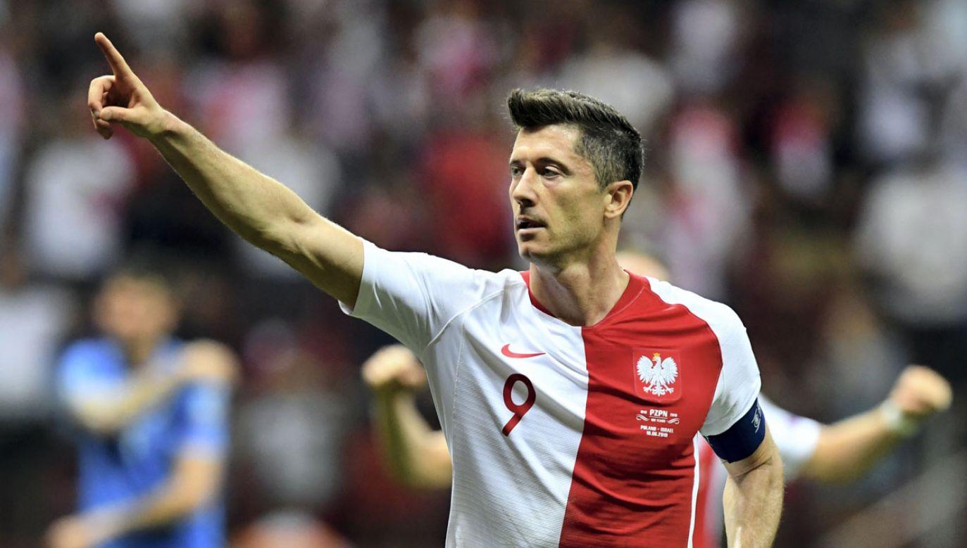 Robert Lewandowski strzelił gola z rzutu karnego (fot. PAP/Piotr Nowak)