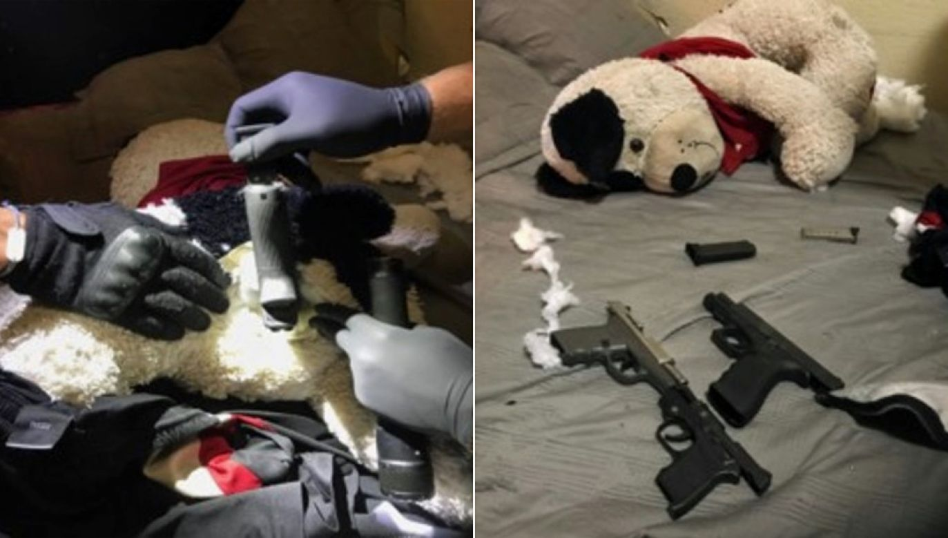 Na broń natrafiono podczas przeszukania mieszkania (fot. Metro Nashville Police Department)