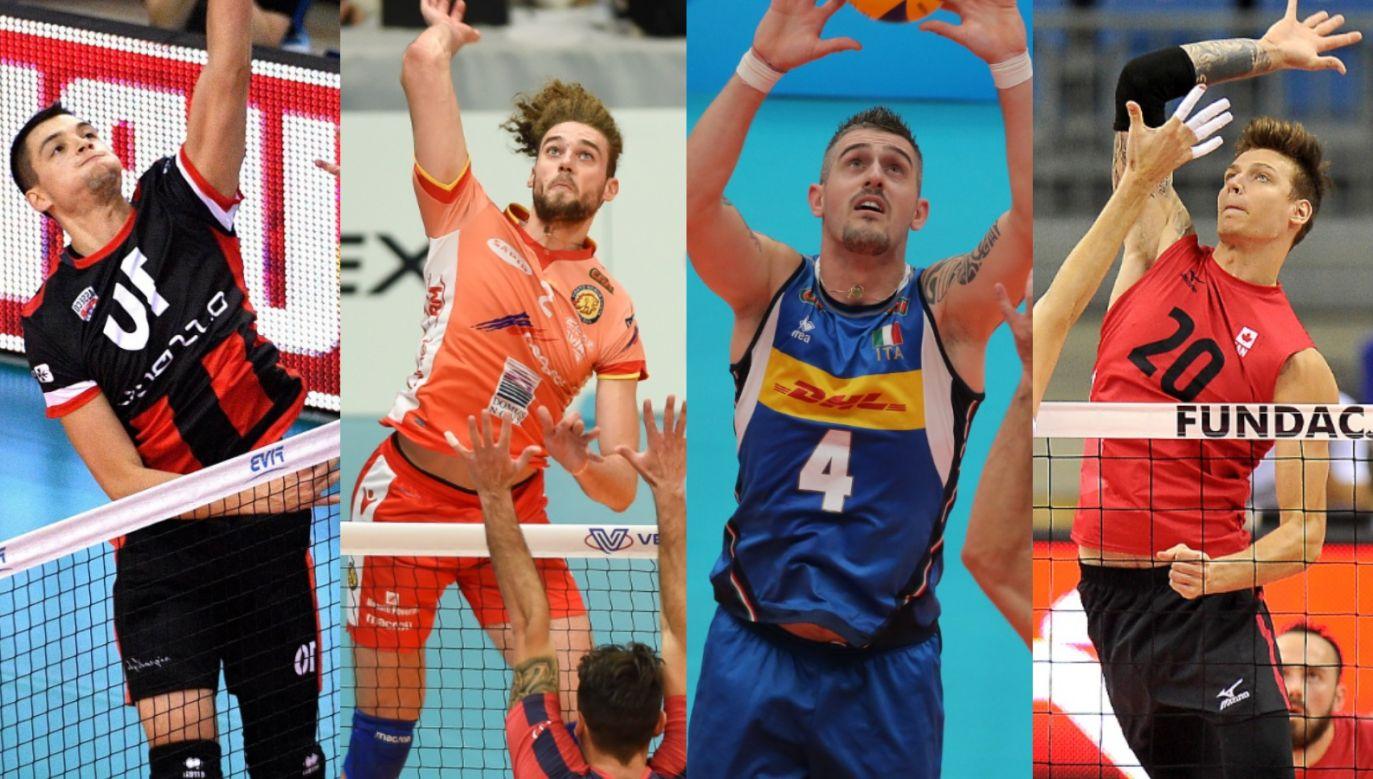 Nicolas Szerszeń, Kamil Rychlicki, Michele Baranowicz i Arthur Szwarc (fot. Getty/PAP)
