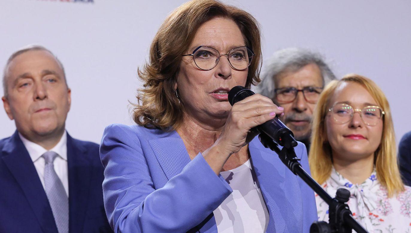 Małgorzata Kidawa-Błońska jest gotowa kandydować w wyborach prezydenckich, ale PO rozważa także inne kandydatury. (fot. PAP/Paweł Supernak)