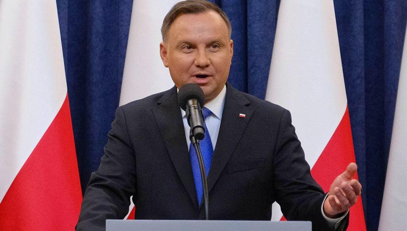 Prezydent Andrzej Duda (fot. PAP/Mateusz Marek)