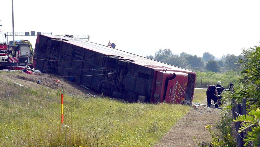 Wypadek autokaru w Chorwacji (fot. Forum/PIXSELL/Ivica Galovic)