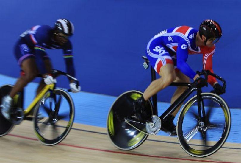 Chris Hoy (P) i Gregory Bauge (fot. Getty Images)