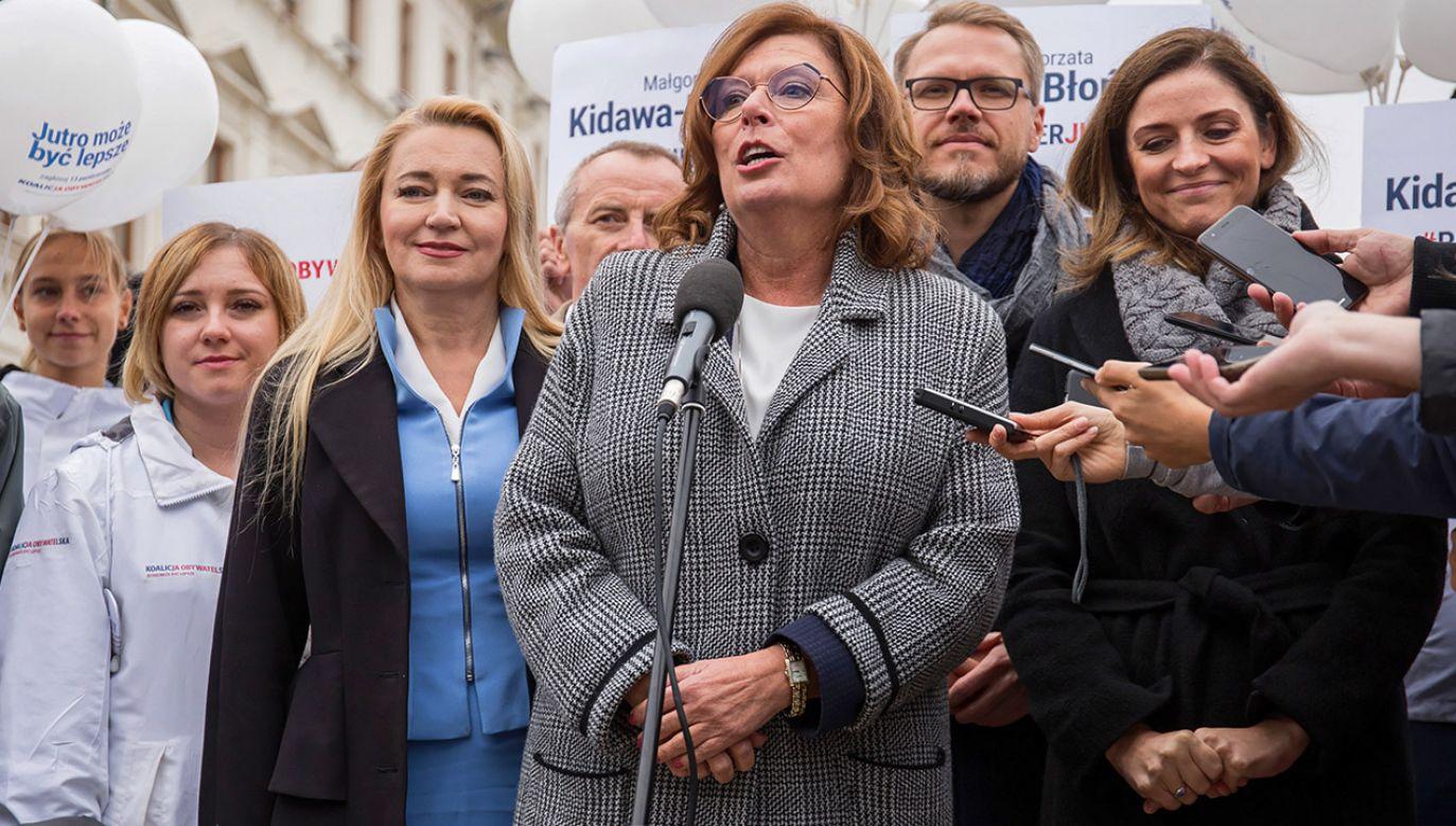 Kandydatka PO-KO na premiera nie rozumie, skąd szczególne zainteresowanie hejterską stroną (fot. PAP/Wojtek Jargiło)
