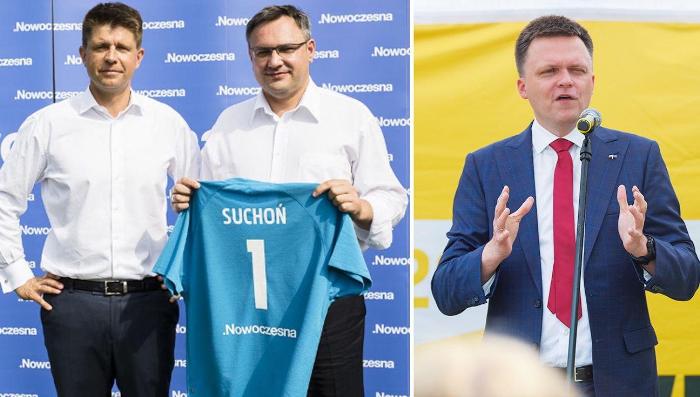 Poseł Nowoczesnej Mirosław Suchoń zaczynał karierę u boku Ryszarda Petru (fot. Nowoczesna; Omar Marques/Getty Images)
