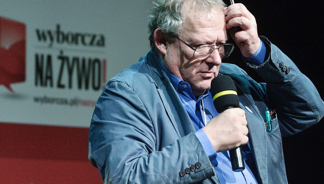 """Adam Michnik odejdzie z """"Gazety Wyborczej""""? (fot. Forum/Lukasz Dejnarowicz)"""
