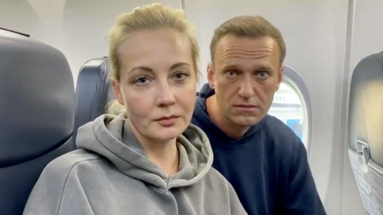 Julia Nawalna z mężem (fot. PAP/EPA/ALEXEI NAVALNY INSTAGRAM)