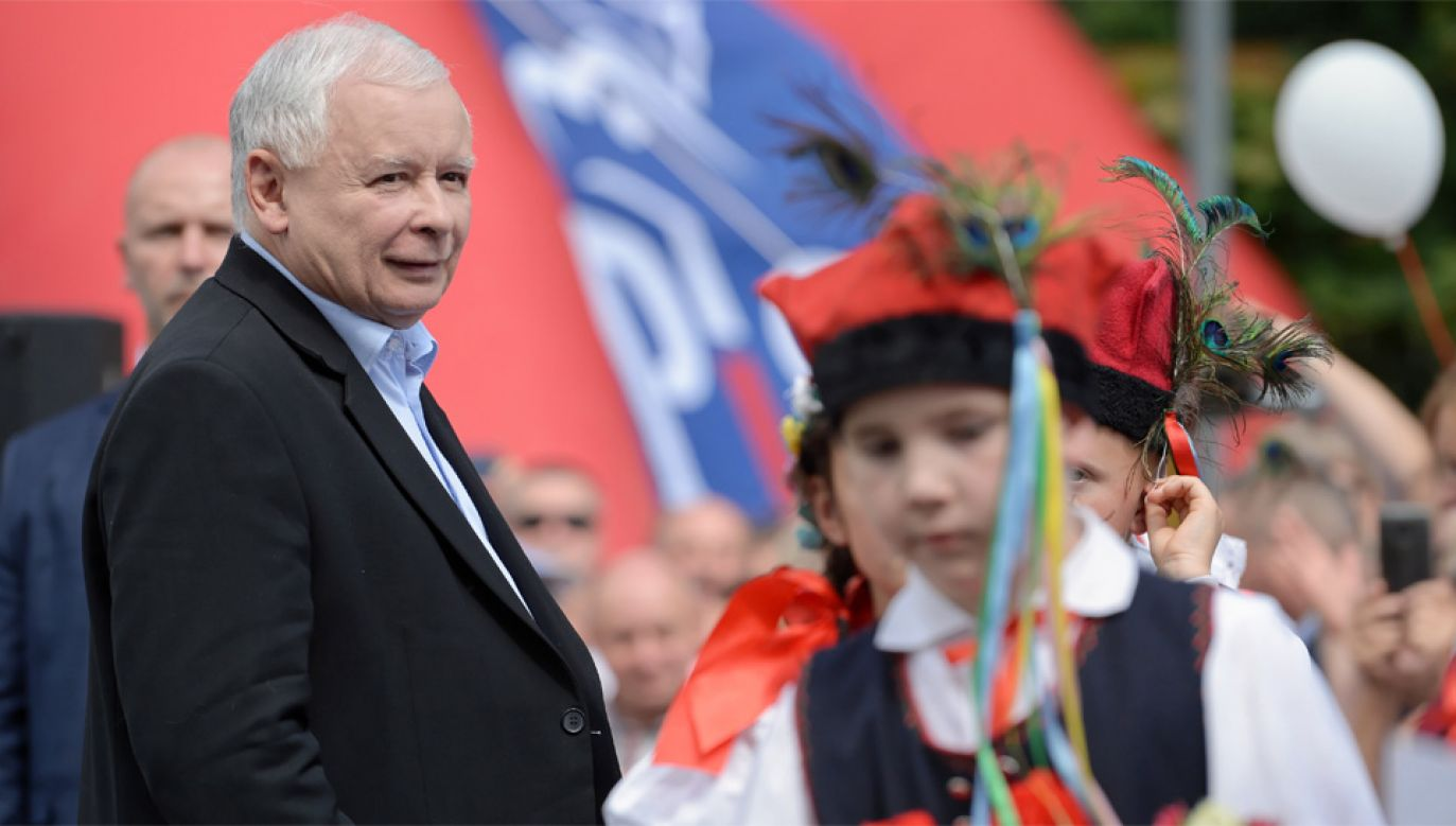 Prezes PiS Jarosław Kaczyński jest krytyczny wobec postulatów środowisk LGBT (fot. PAP/Darek Delmanowicz)