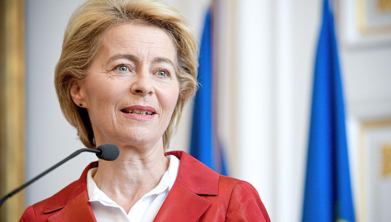 Nowa szefowa Komisji Europejskiej Ursula von der Leyen (fot. PAP/EPA/SASCHA STEINBACH)