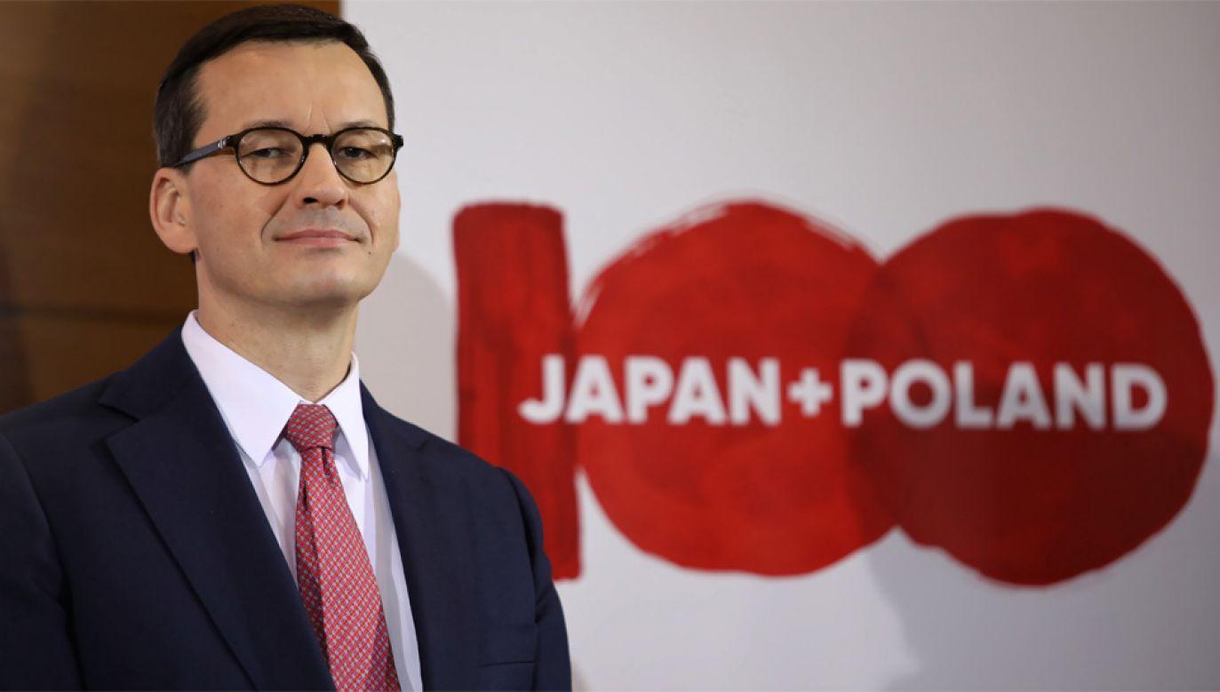 Premier Mateusz Morawiecki liczy na kolejne inwestycje w Polsce (fot. PAP/Leszek Szymański)
