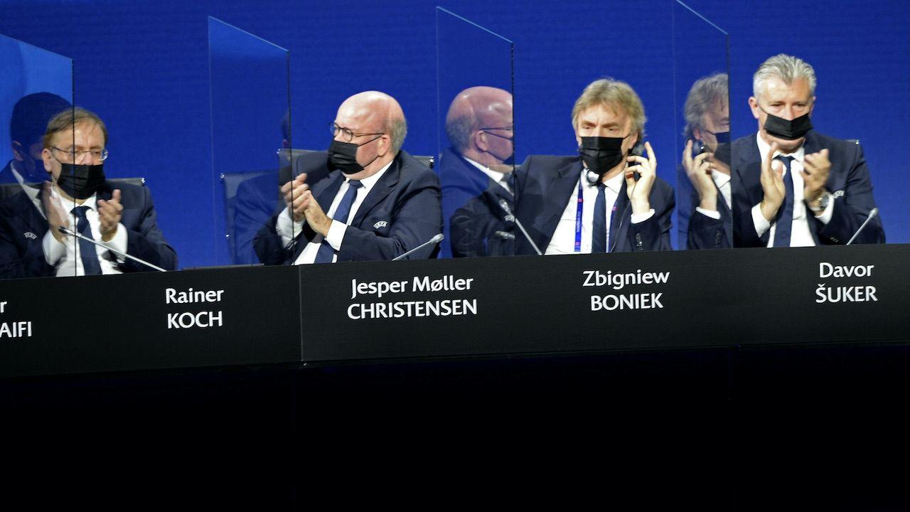 Zbigniew Boniek ponownie wybrany do Komitetu Wykonawczego UEFA (fot. PAP/EPA/Paul Murphy/UEFA)