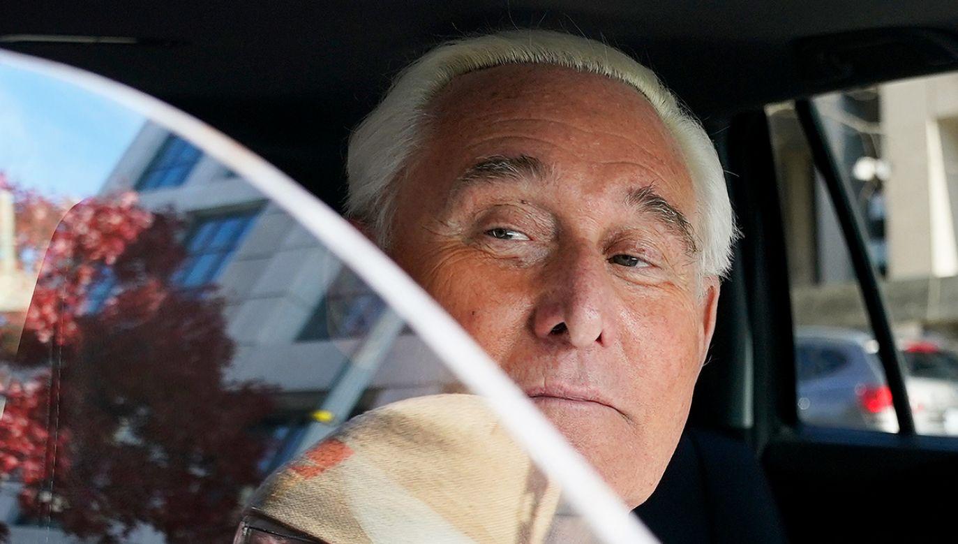 Stone został oskarżony m.in. o składanie fałszywych zeznań w Kongresie (fot. Win McNamee/Getty Images)