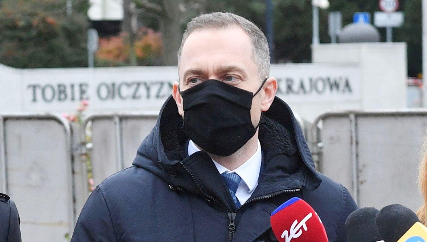 Detektyw oskarża szefa klubu parlamentarnego KO (fot. PAP/Radek Pietruszka)