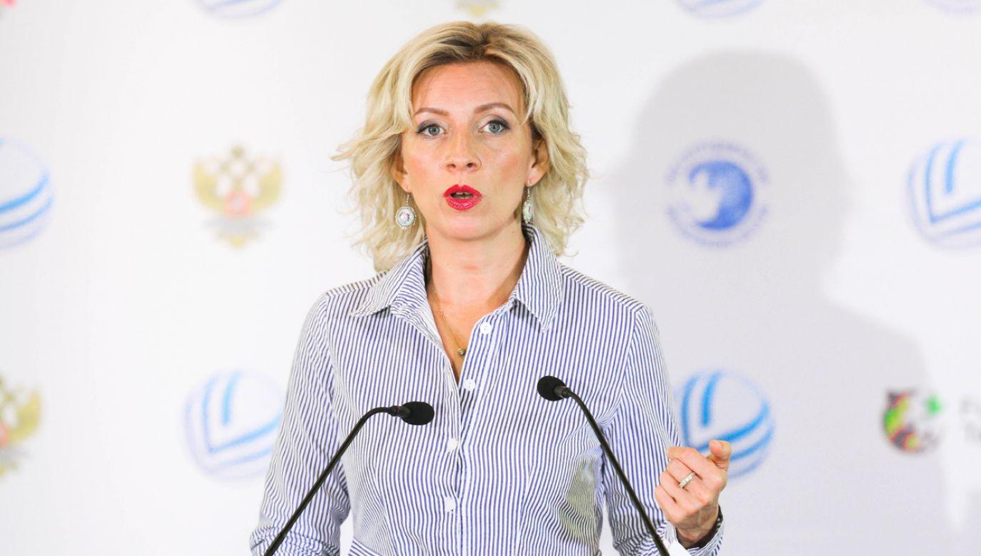 Rzeczniczka rosyjskiego MSZ Marija Zacharowa (fot. arch. PAP/Vitaly Nevar)