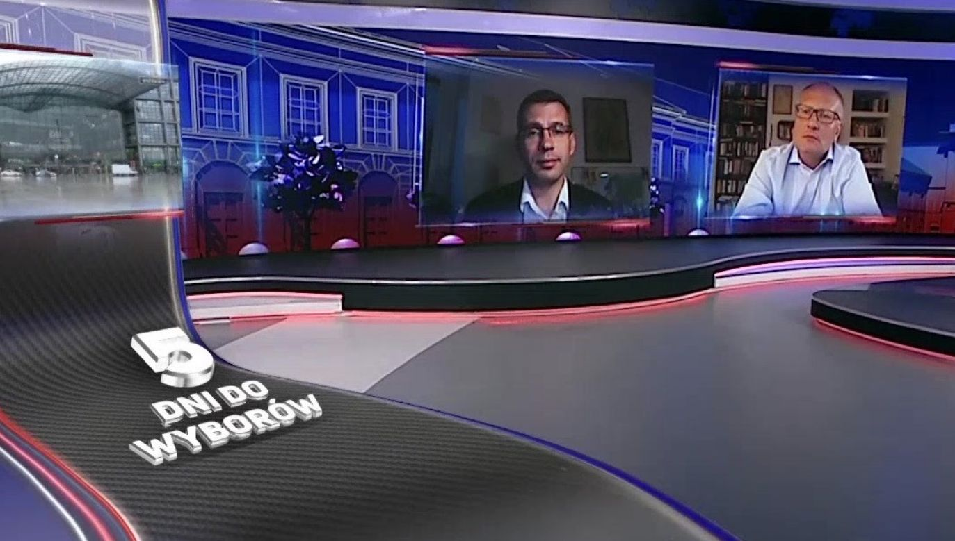 Dzisiejsza debata prezydencka przed II turą wyborów była jednym z tematów programu (fot. TVP Info)