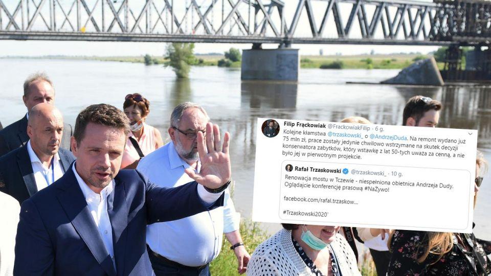 Wybory prezydenckie 2020. Kolejne kłamstwo Rafała Trzaskowskiego. Tym razem most w Tczewie wieszwiecej - tvp.info