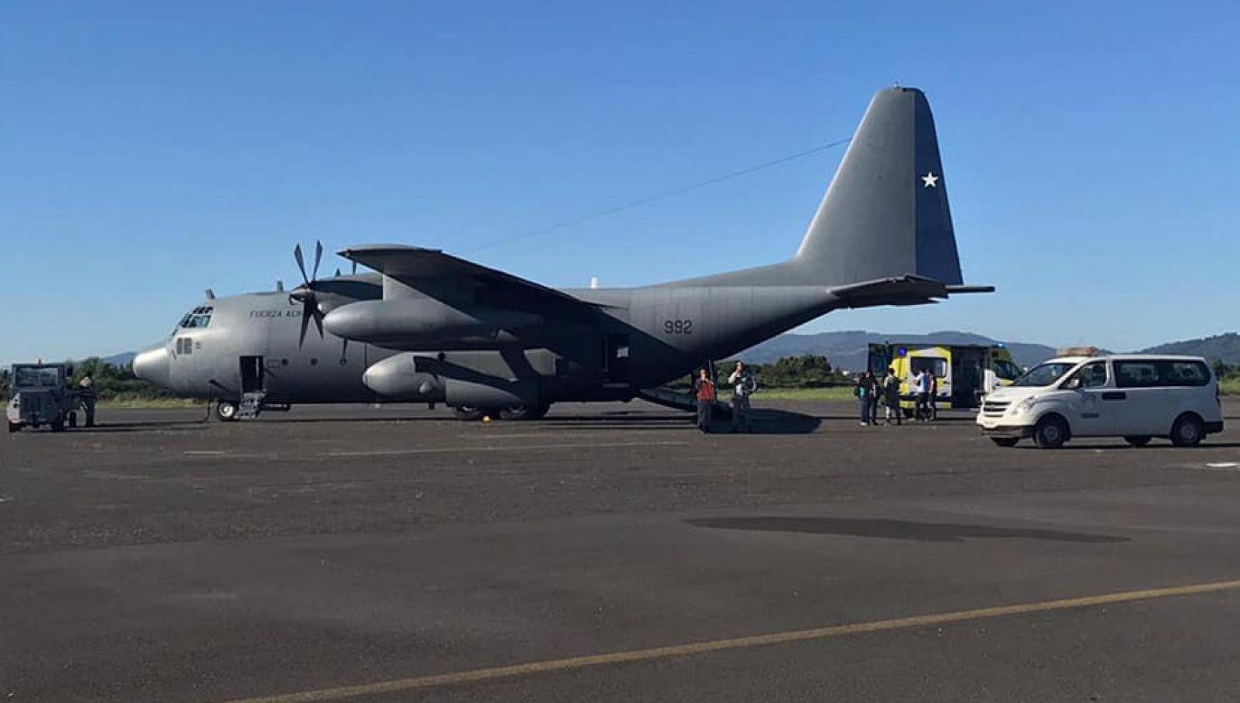 Transportowy hercules zniknął z radaru wkrótce po starcie (fot. Fuerza Aérea De Chile)