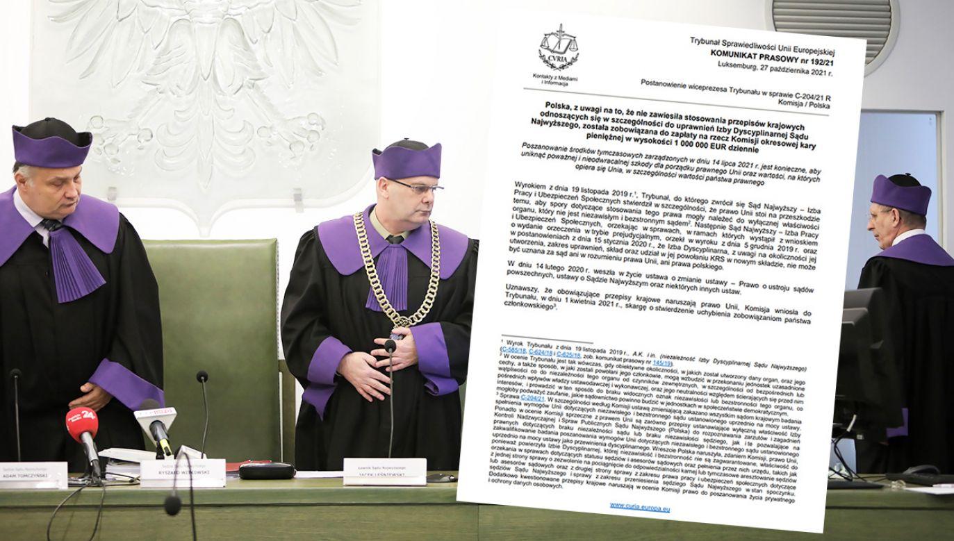 TSUE kara Polskę za przepisy dot. Izby Dyscyplinarnej (fot. arch.PAP/Leszek Szymański, TSUE)