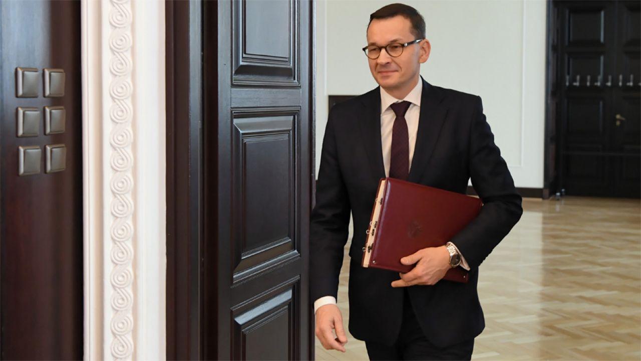 Premier Mateusz Morawiecki skrytykował Niemcy i Francję (fot. PAP/Piotr Nowak)