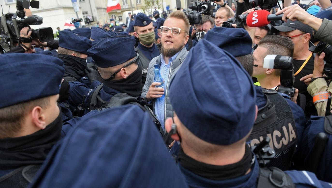 """Dziś odbyło się posiedzenie dotyczące zażalenia lidera """"strajku przedsiębiorców"""" (fot. PAP/Radek Pietruszka)"""