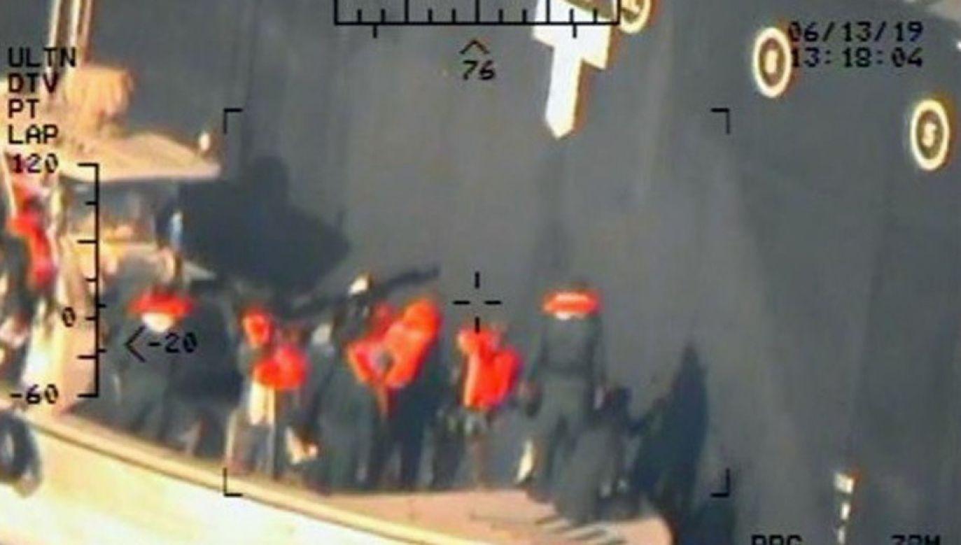 Departament Obrony USA twierdzi, że za atak odpowiadają irańscy Strażnicy Rewolucji (fot. PAP/EPA/US DEPARTMENT OF DEFENSE HANDOUT)