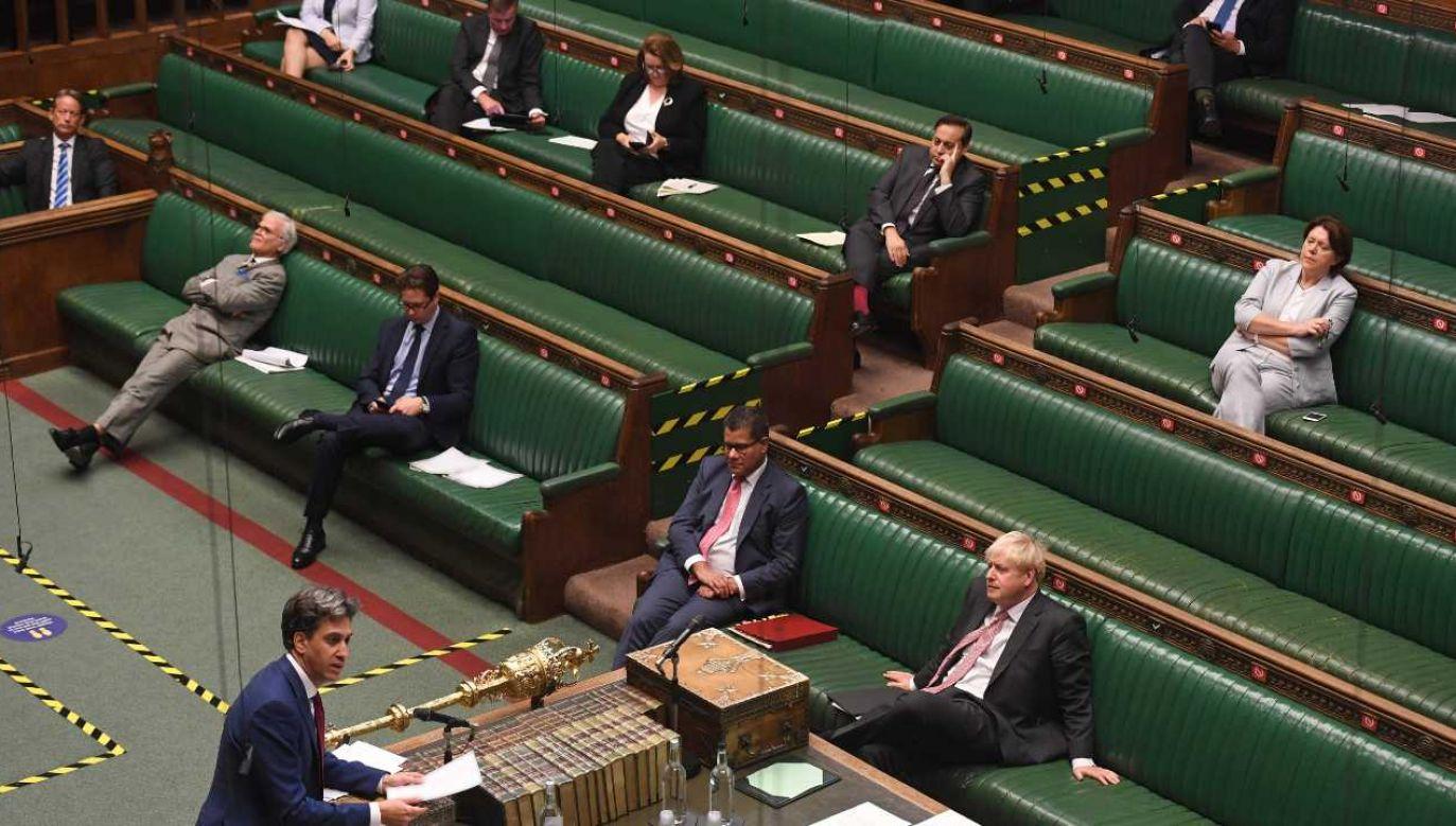 Izba Gmin dała zielone światło dla ustawy brexitowej (fot. PAP/EPA/JESSICA TAYLOR / UK PARLIAMENT HANDOUT)