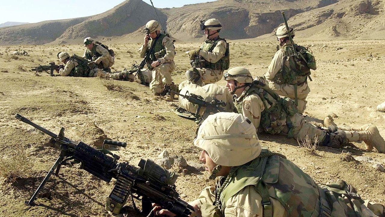 Żołnierze amerykańscy (fot. Eugene Hoshiko-Pool/Getty Images)