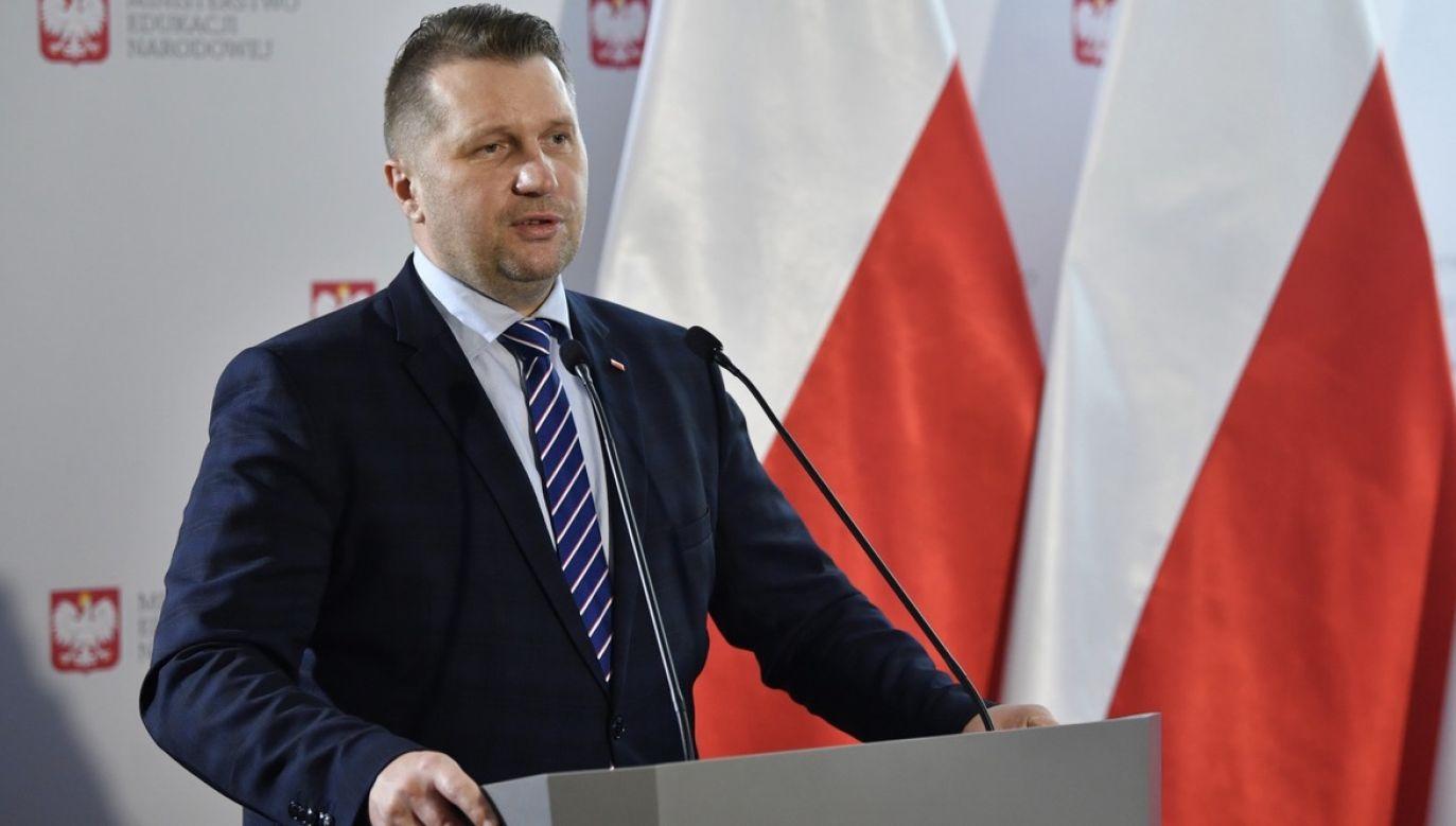 Min. Przemysław Czarnek (fot. PAP/Radek Pietruszka)