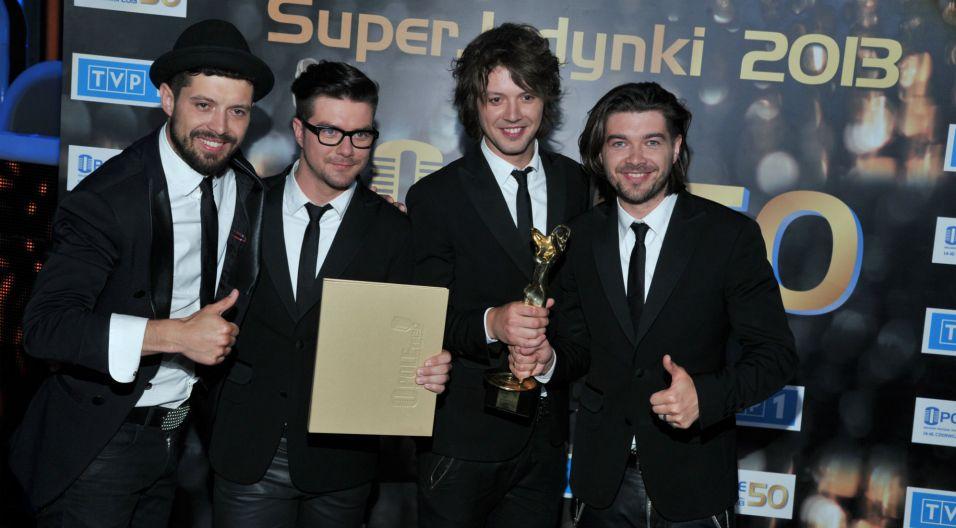 Grupę nagrodzono w kategoriach SuperWystęp i SuperZespół (fot. J. Bogacz/TVP)