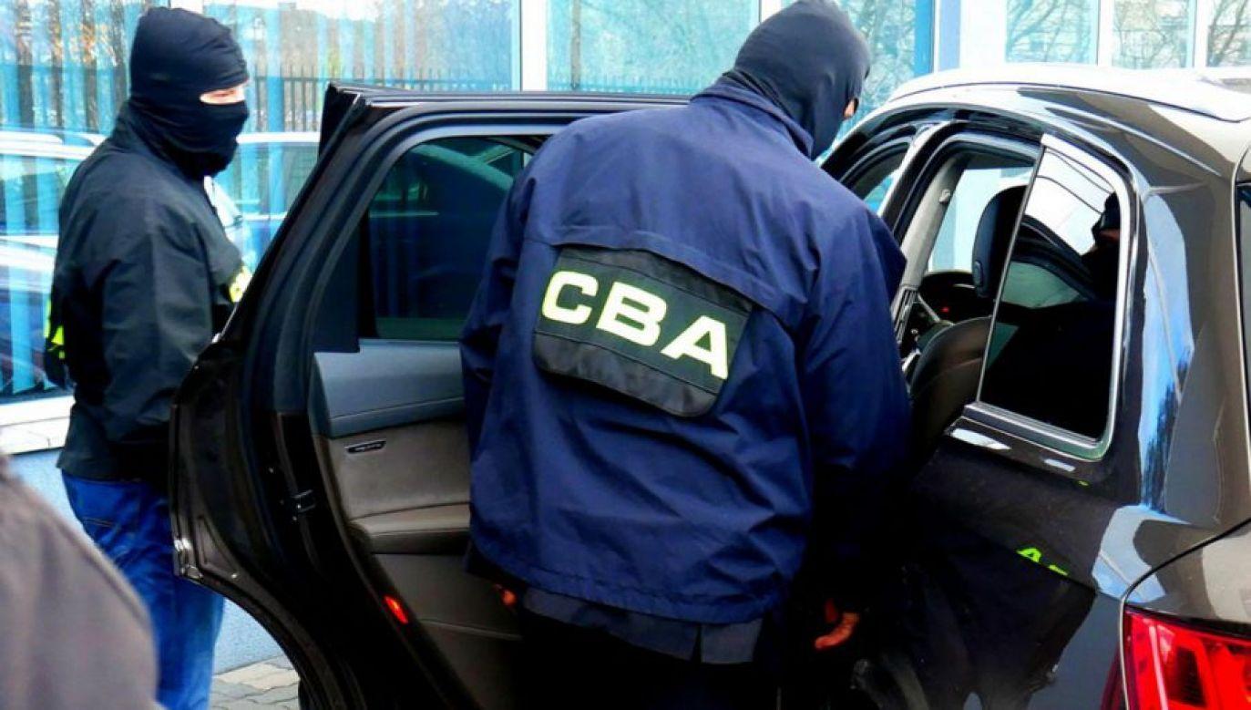 CBA zatrzymało Grzegorza G. na gorącym uczynku (fot. CBA)