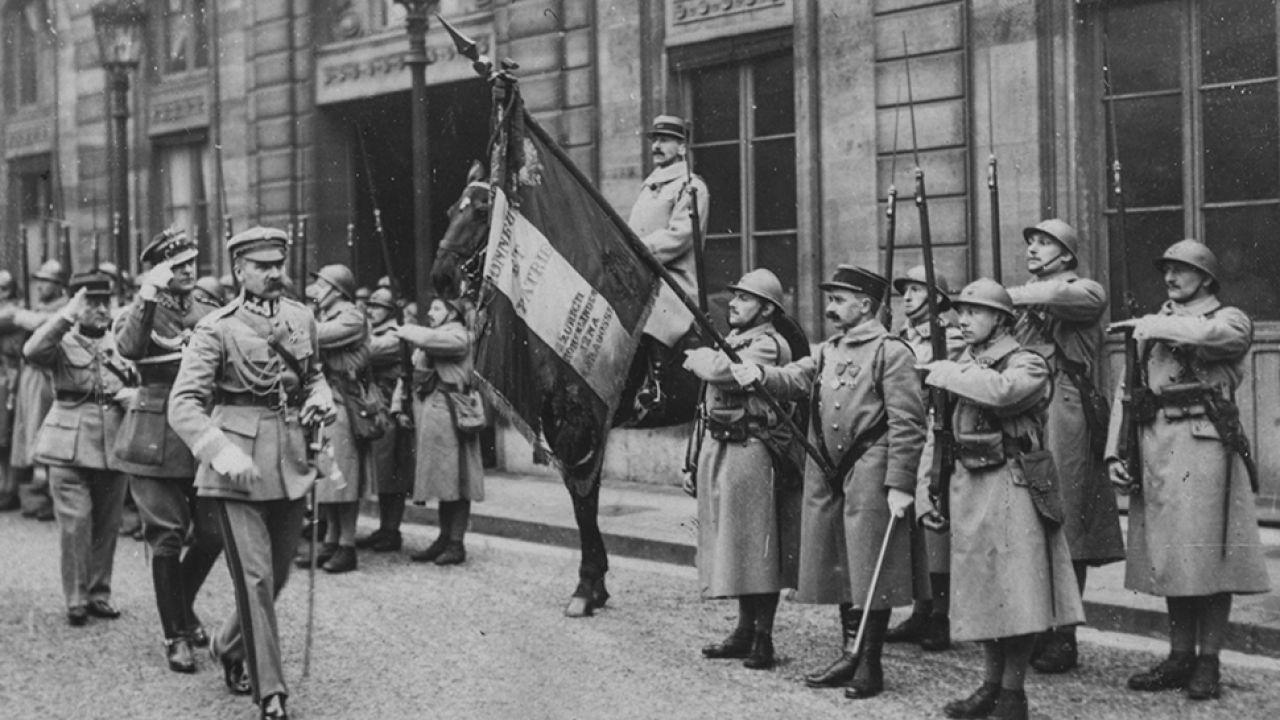 Józef Piłsudski w Paryżu w 1921 roku (fot. Kadel & Herbert News Service/Hulton Archive/Getty Images)