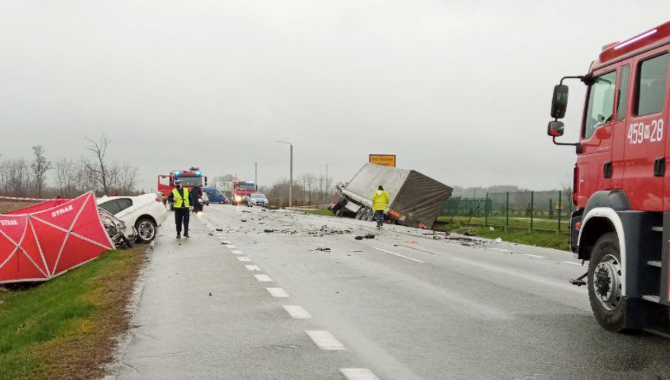 W wyniku zdarzenia zginęła jedna osoba (fot. Policja)