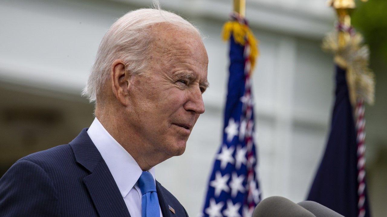 Prezydent USA Joe Biden (fot. PAP/EPA/TASOS KATOPODIS / POOL)