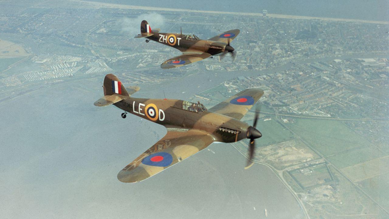 W bitwie o Anglię wsławili się polscy lotnicy (fot. Fox Photos/Getty Images)